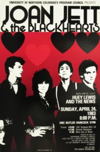 A vintage Joan Jett and the Blackhearts poster